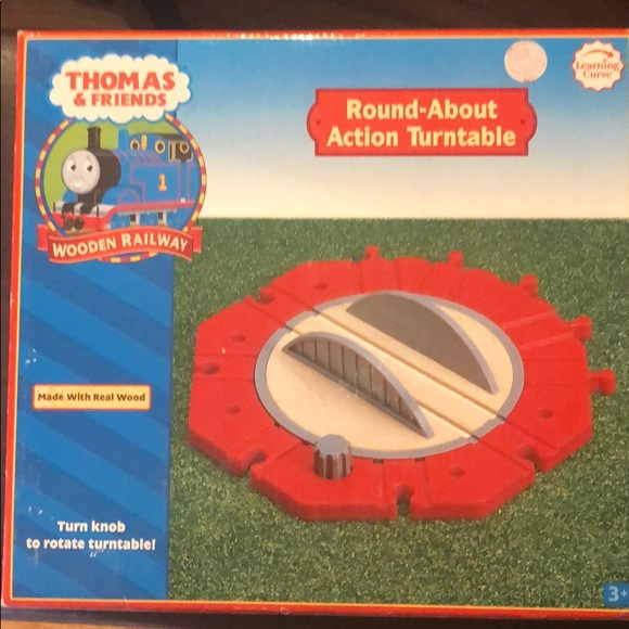 Peachy Nwb Thomas Friends Round About Action Turntable Home Remodeling Inspirations Genioncuboardxyz